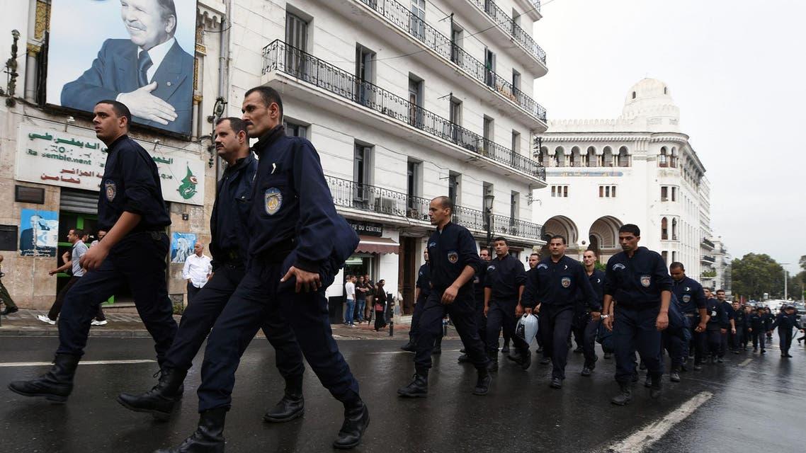 algeria police demo AFP