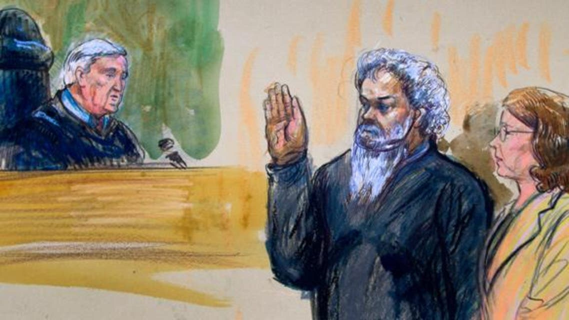 Artist's rendering shows Libyan militant Ahmed Abu Khatallah in court. (File photo courtesy: AP)
