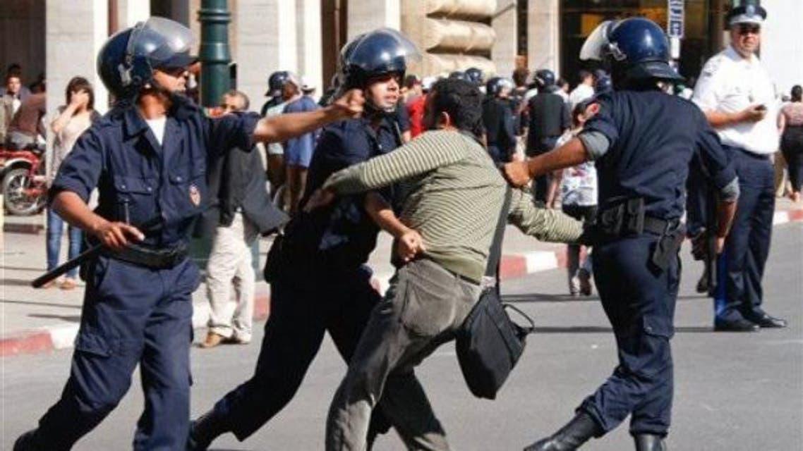 الشرطة المغربية شرطة المغرب تعتقل مشتبها