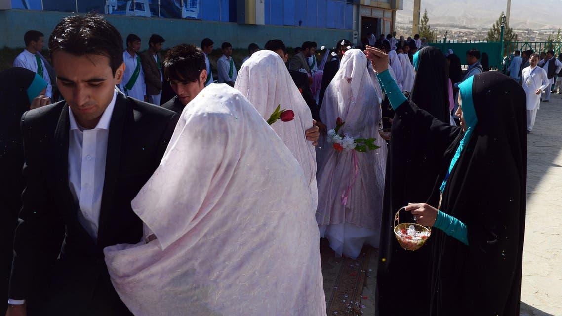 Afghan brides. (AFP)