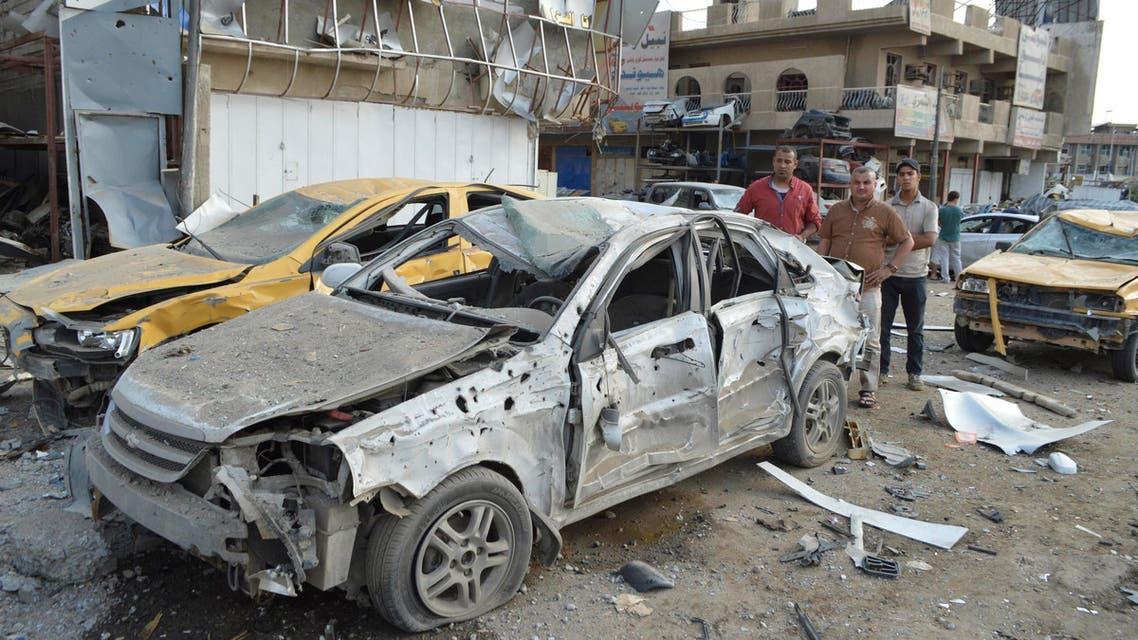 تفجير انفجار في بغداد العراق سيارة مفخخة