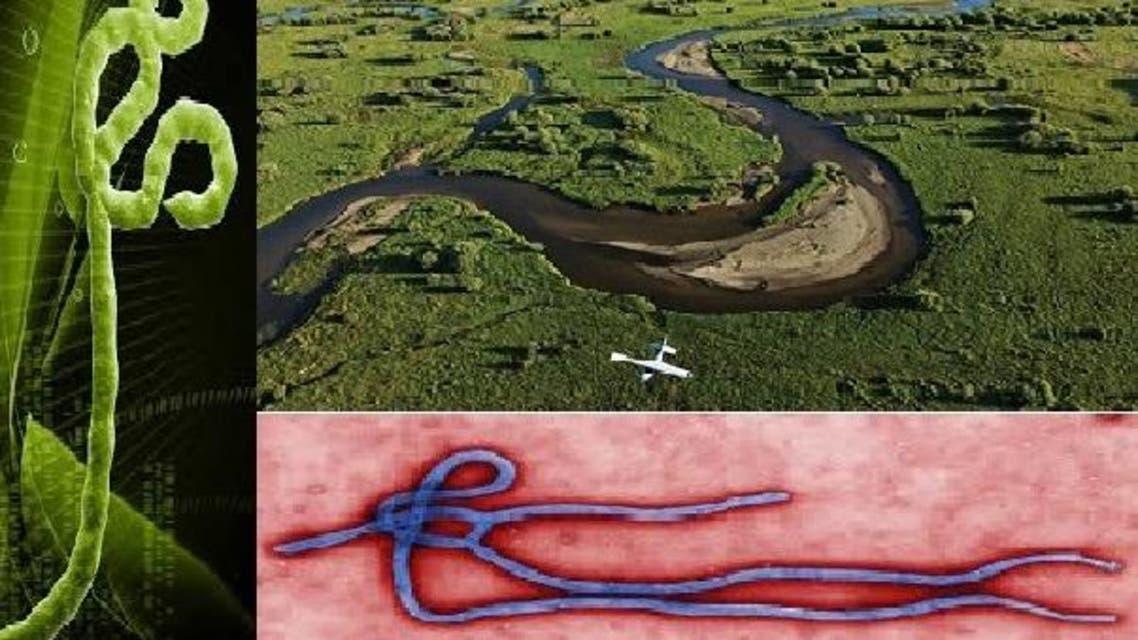 جريان نهر ايبولا شبيه بالفيروس الشبيه أيضا بغواص تحت الماء