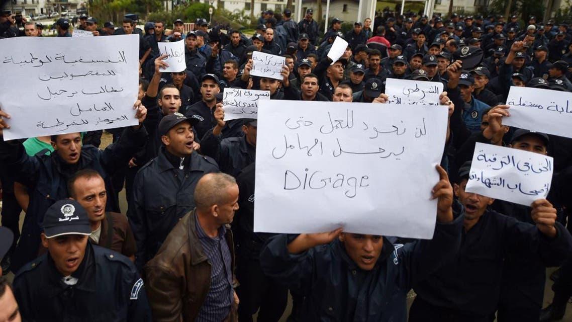 اعتصامات رجال الشرطة في الجزائر