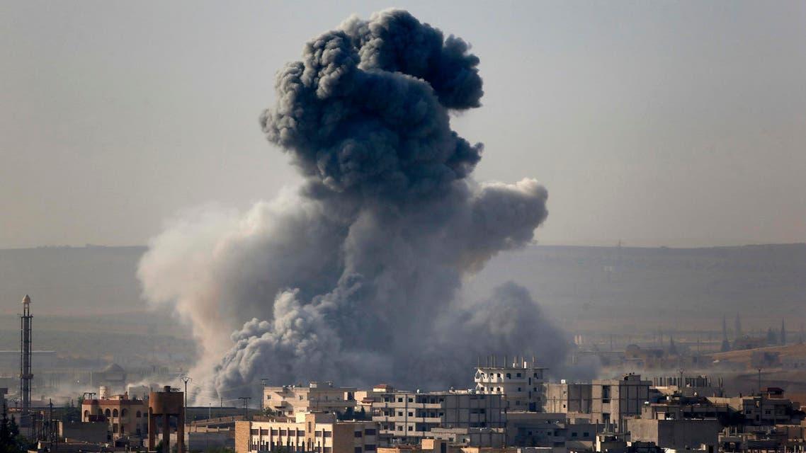 ضربات التحالف على داعش في كوباني