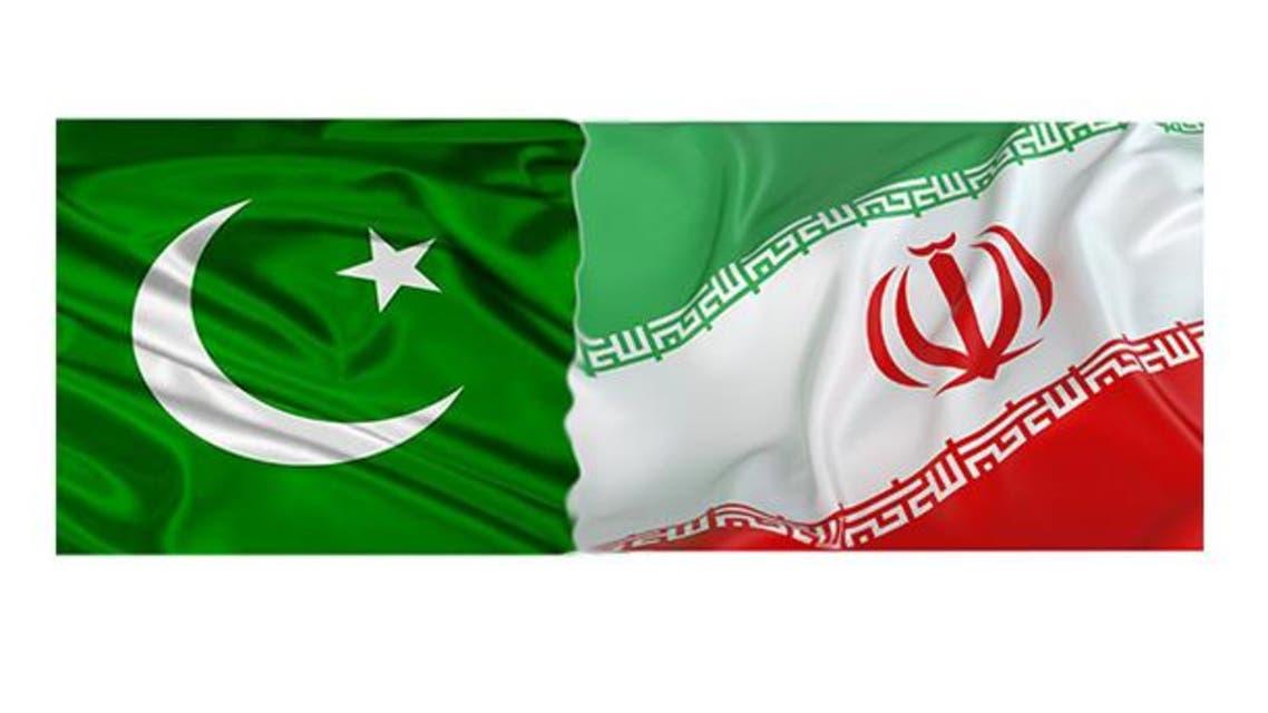 علم إيران وعلم باكستان