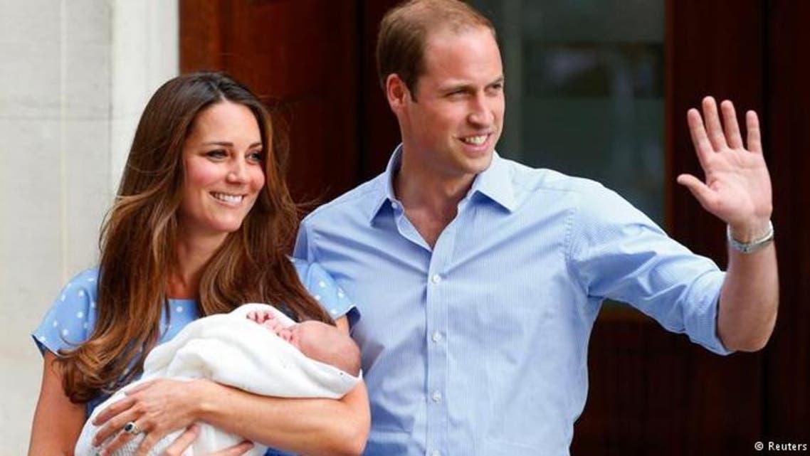 الأمير وليام وزوجته كاثرين والطفل الأول