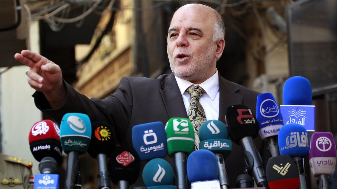 raqi Prime Minister Haider al-Abadi gives a press conference on October 20, 2014 in the Iraqi central shrine city of Najaf. (AFP)