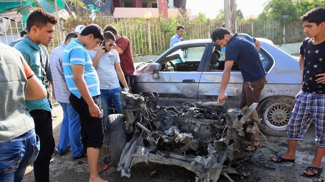 انفجار تفجير سيارة مفخخة ملغمة ملغومة في كربلاء بكربلاء العراق