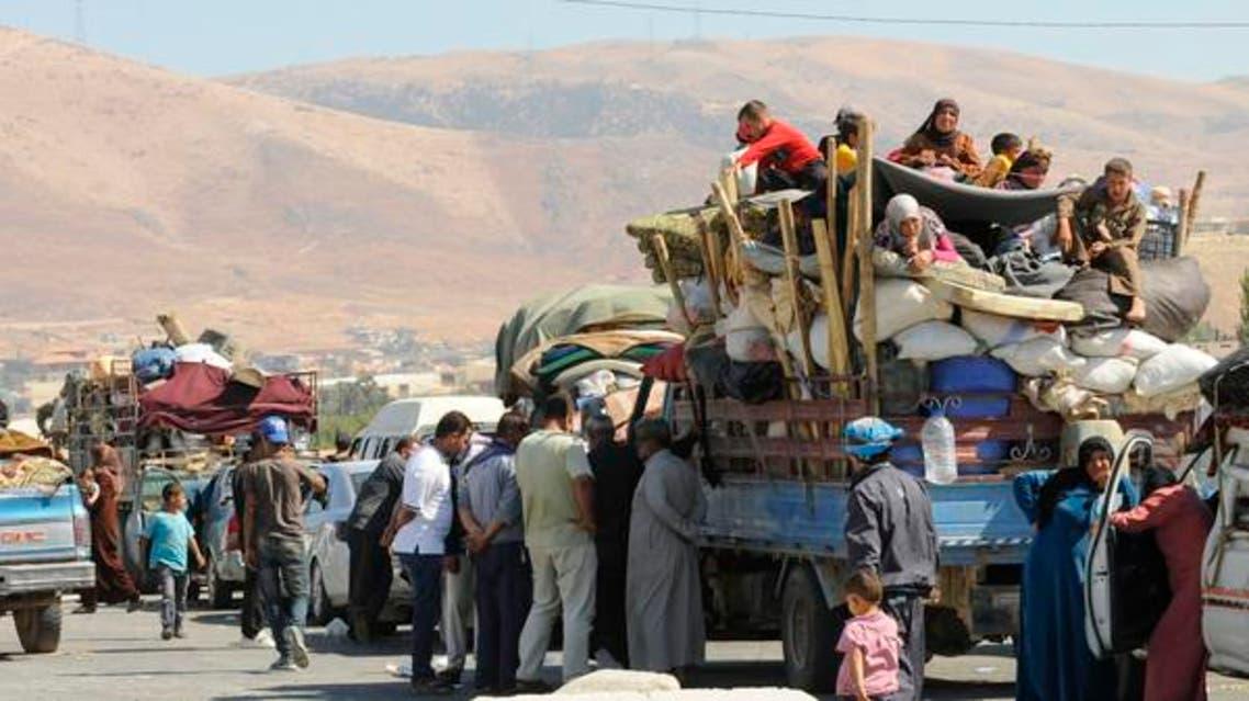 لاجئين لاجئون سوريين سوريون في عرسال لبنان مهاجرين هجرة سوريا