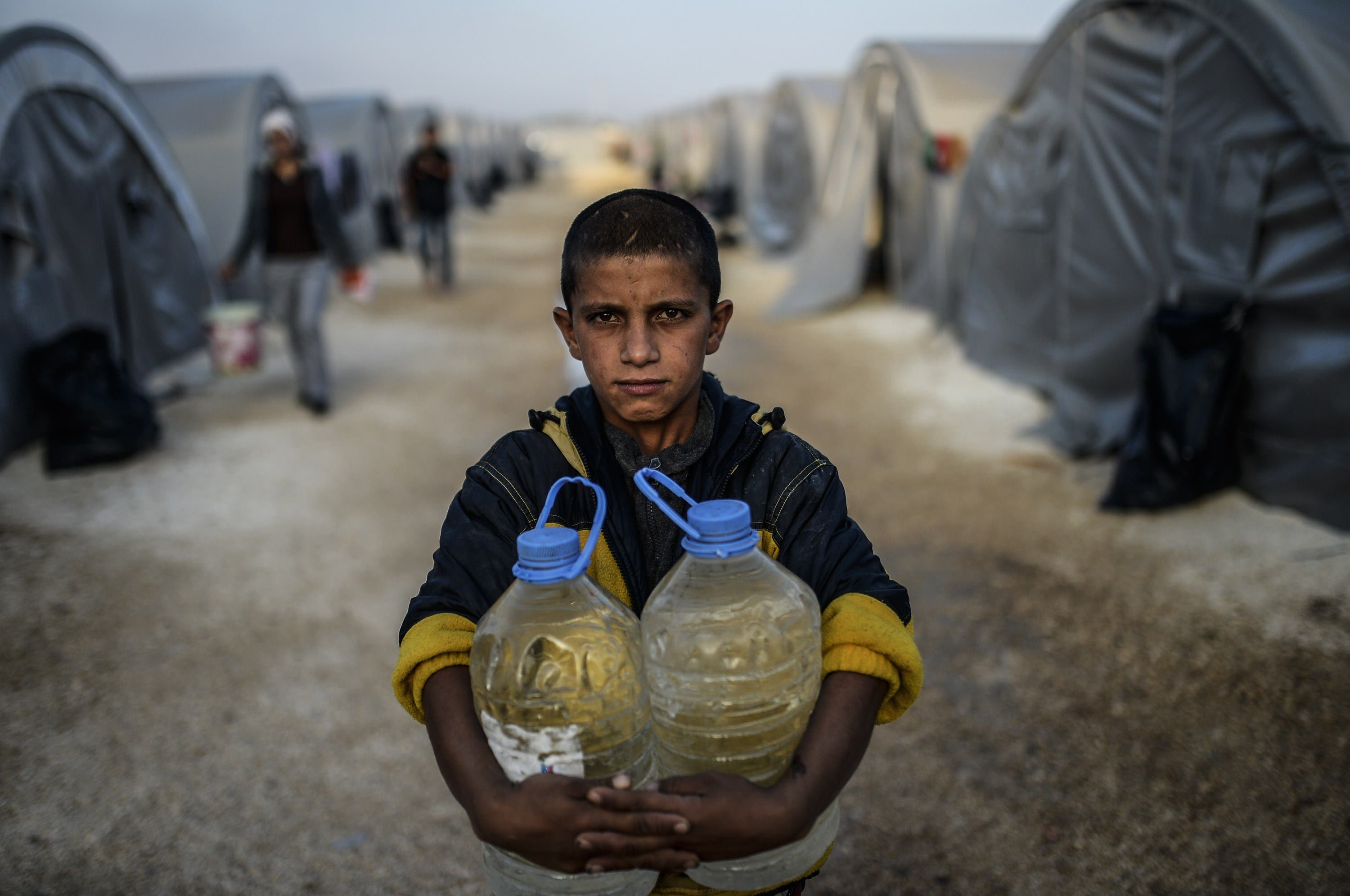 Kobane refugees on the run from ISIS