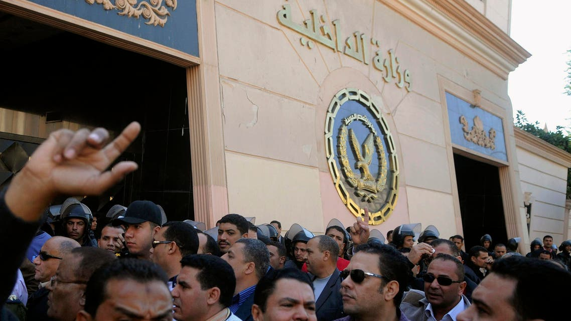 Egypt Interior Ministry protest police Reuters