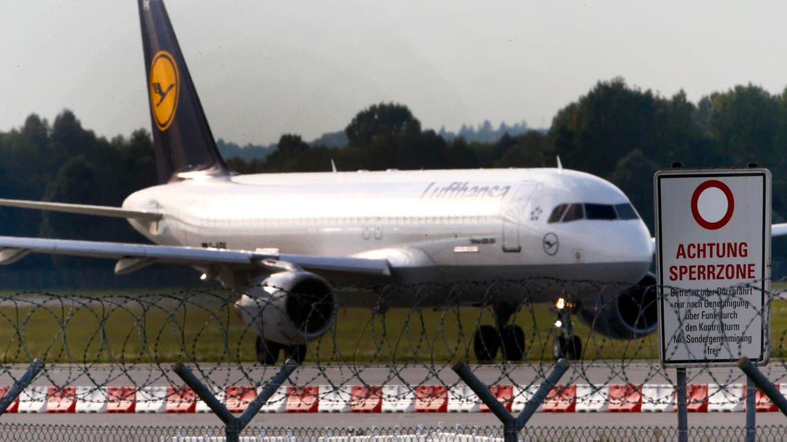 A German airline Lufthansa aircraft is pictured at Munich's airport September 19, 2014.