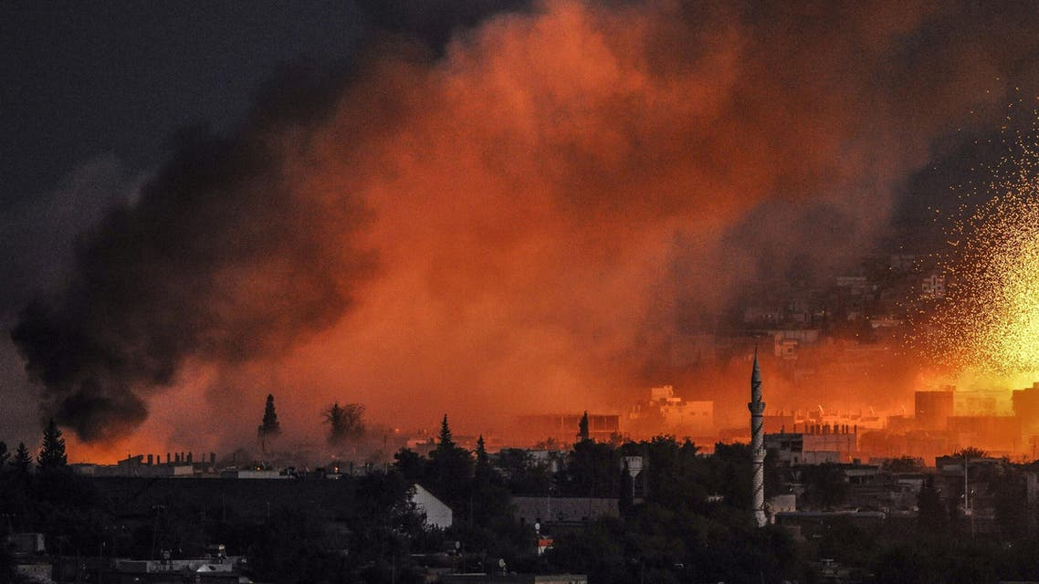 Smoke and flames rise following an explosion in the Syrian town of Kobane, where Roshid is reported to have been killed. (File photo: Reuters)