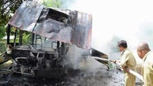 24 killed in Pakistan bus crash fire