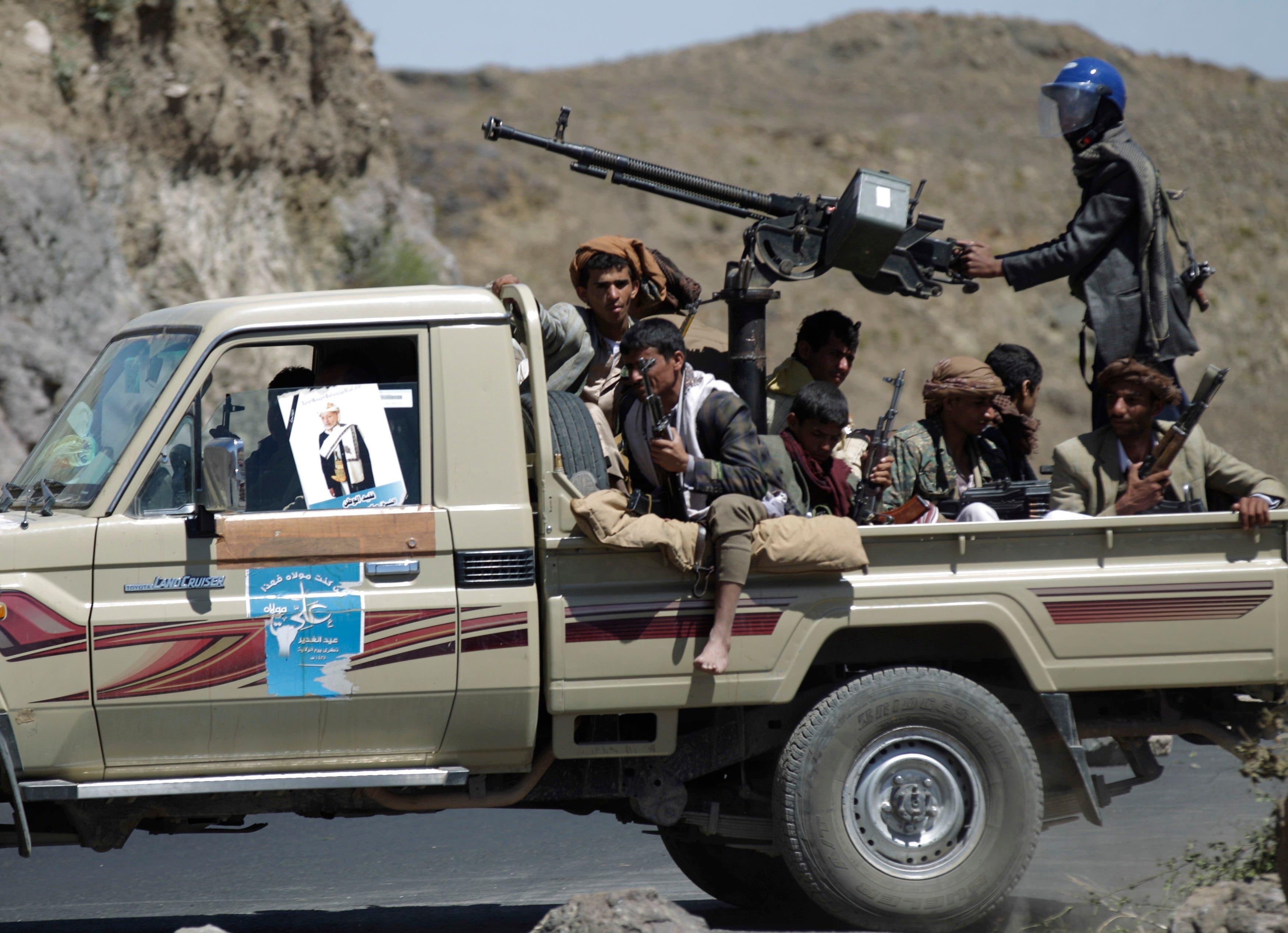 مقاتلون حوثيون في إب (أرشيفية)