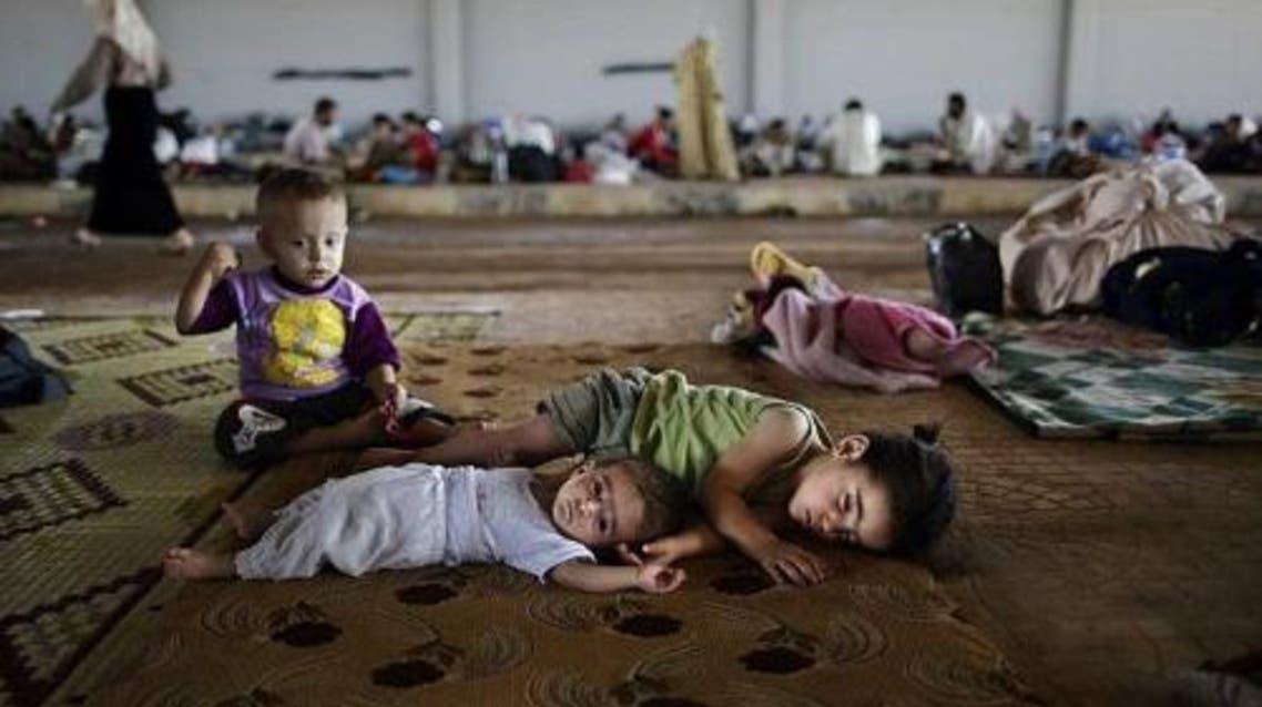 الأطفال السوريين اللاجئين في عرسال