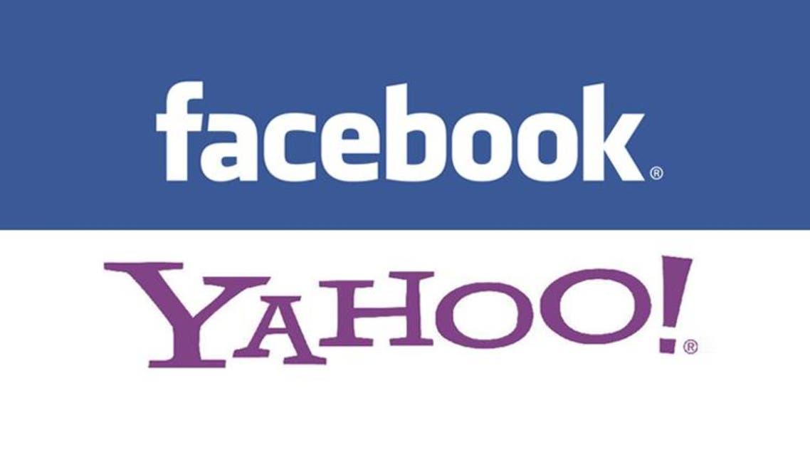 facebook and yahoo logos