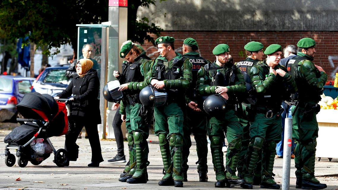 German Riot police
