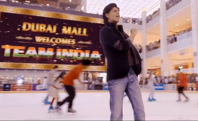 Dubai mall (Screenshot from the movie)