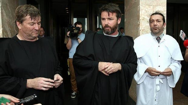 The men said it was hypocritical to allow women in niqabs into parliament but not those in a KKK outfit. (Photo courtesy: smh.com.au)