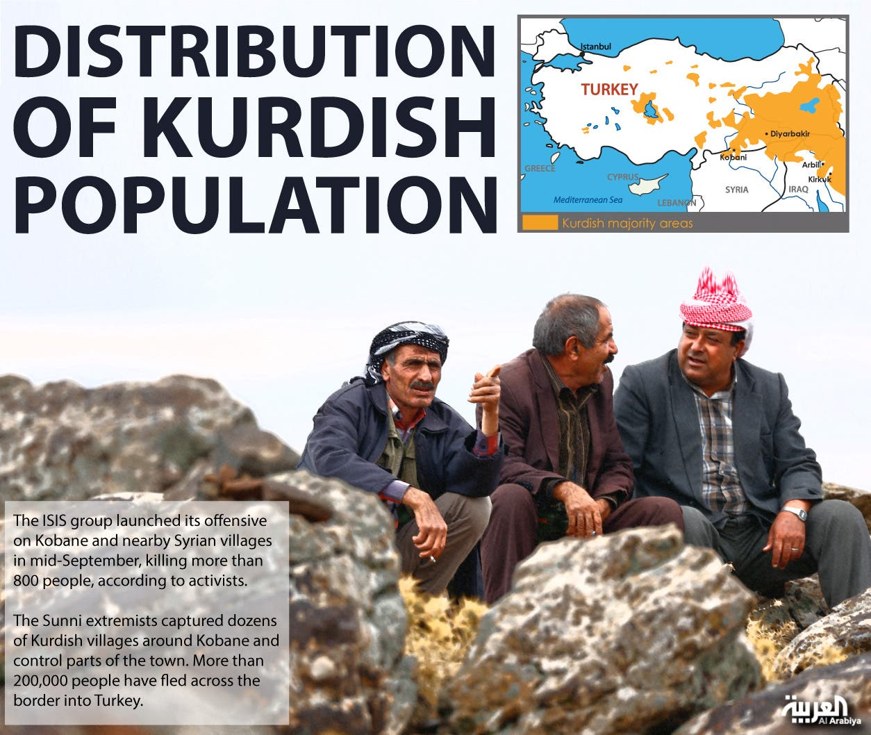 Infographic: Distribution of Kurdish population