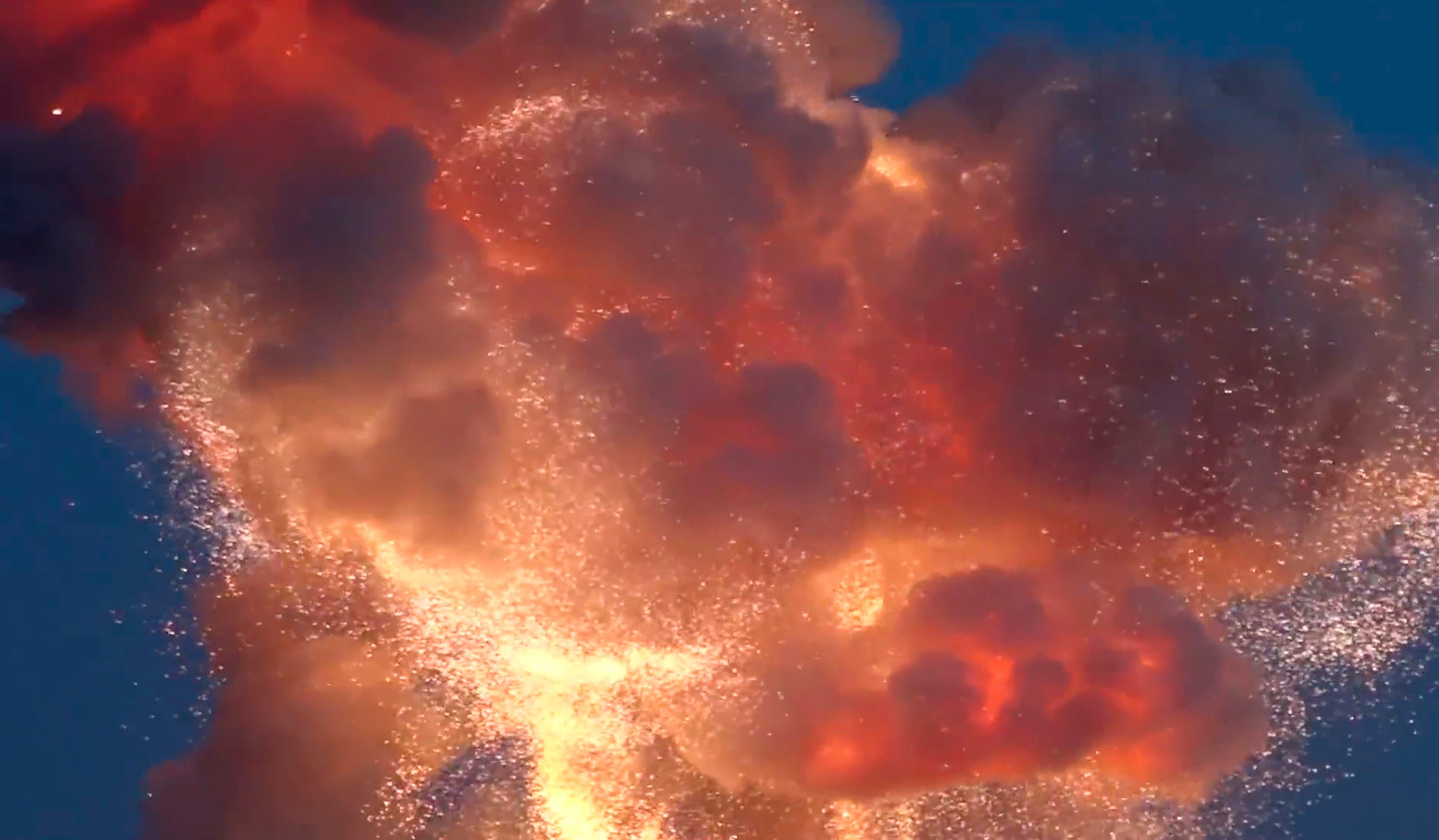 nasa space supply rocket explosion reuters