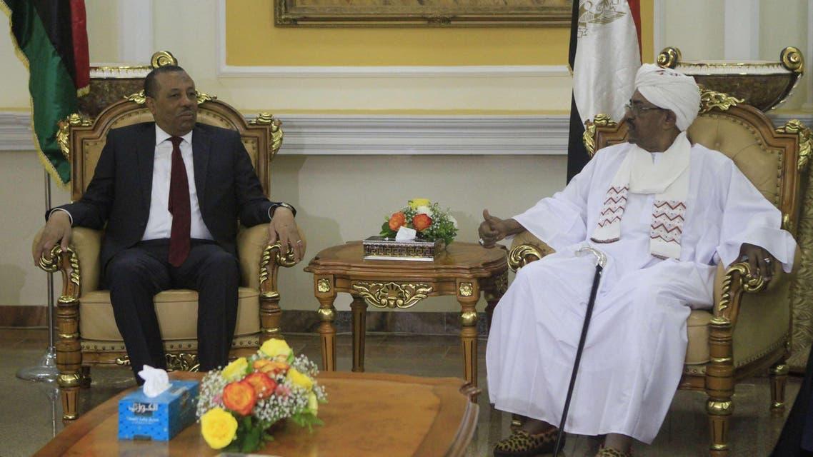 عمر البشير وعبدالله الثني
