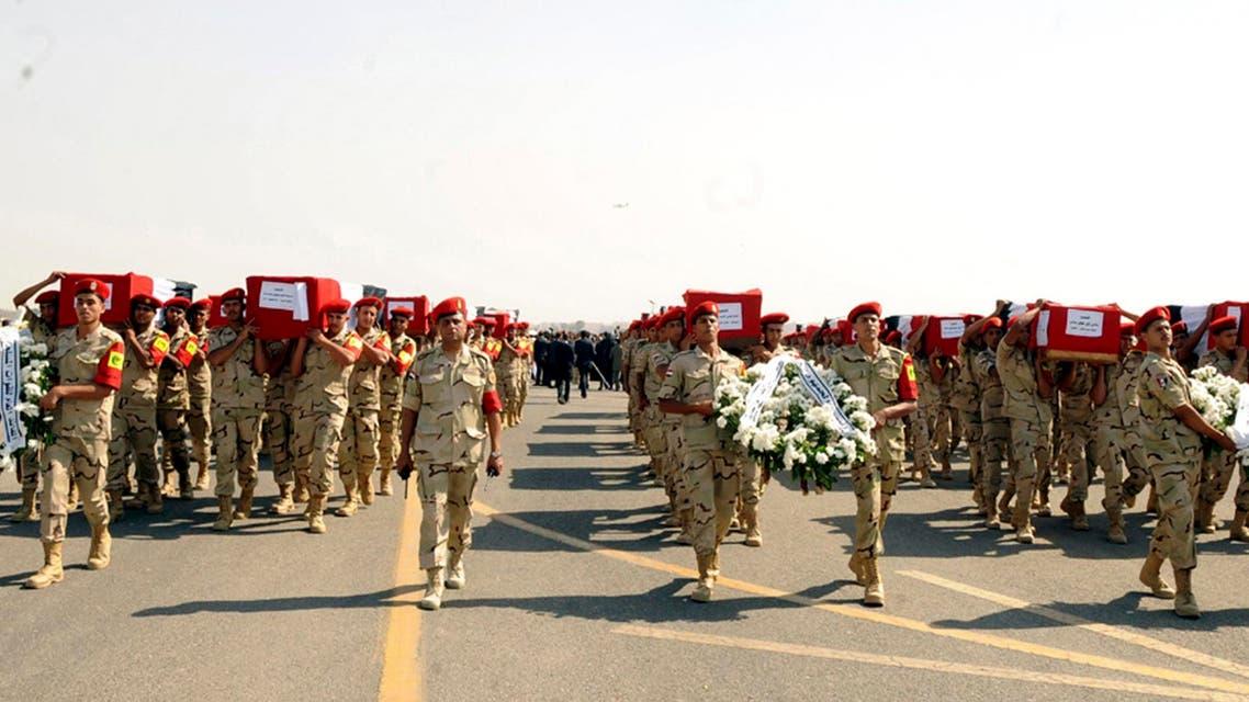 تشييع جثمان قتلى الإرهاب في سيناء
