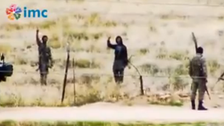 Video: ISIS militants face to face with Turkish soldiers