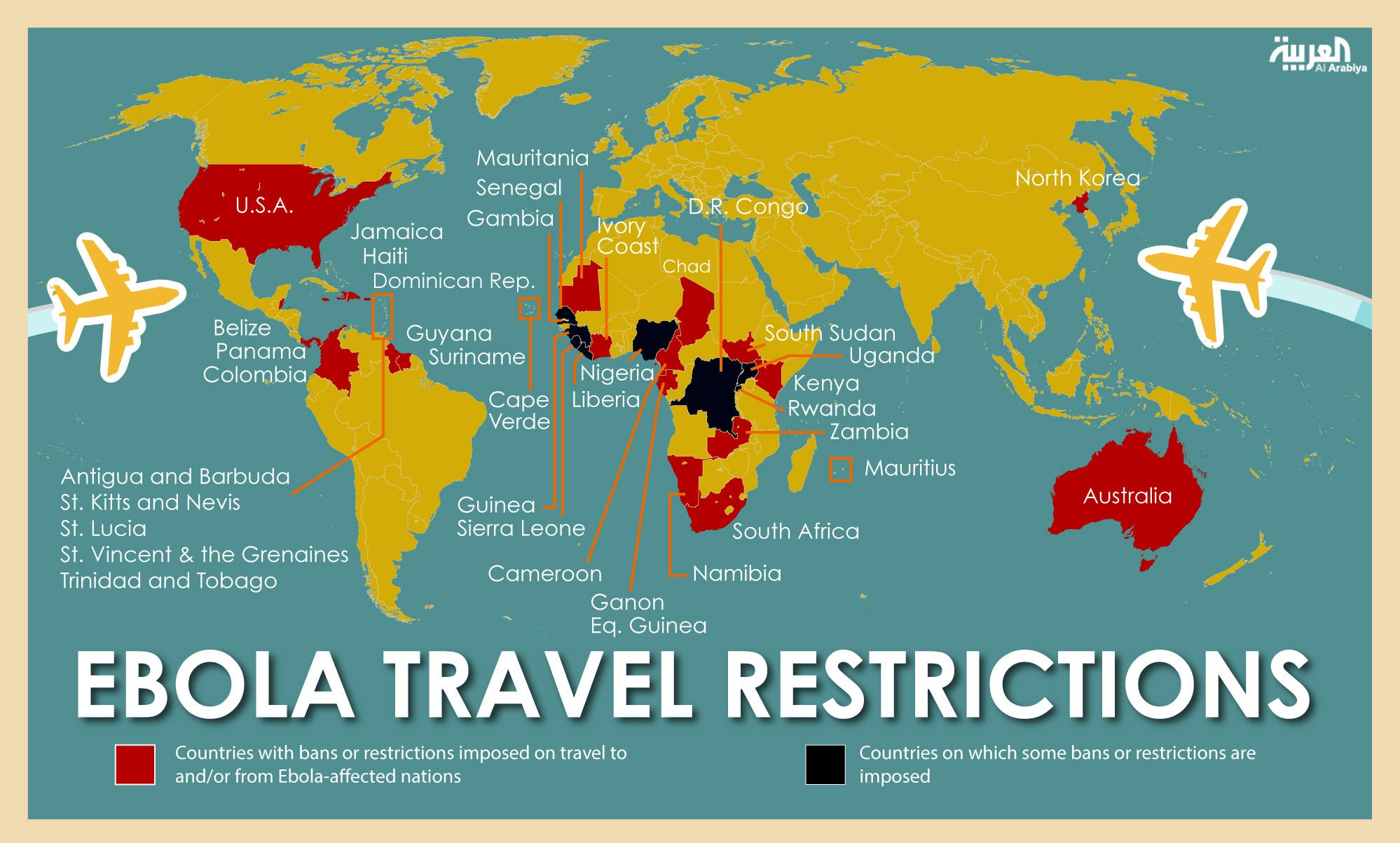 Infographic: Ebola travel restrictions