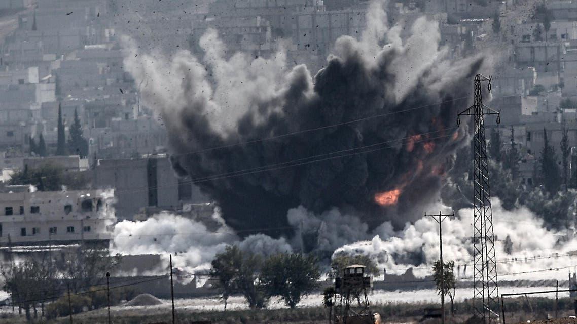 Fighter jet hit Kobane