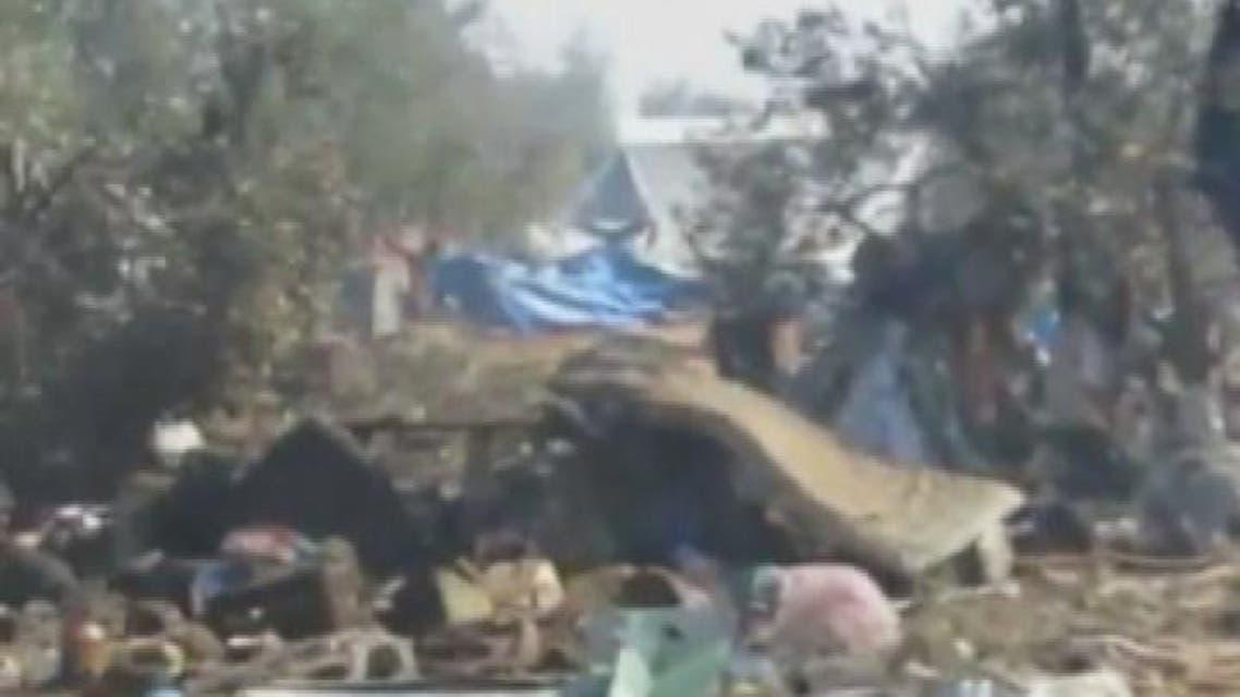 THUMBNAIL_ قوات الأسد ترتكب مجزرة في مخيم للنازحين بإدلب