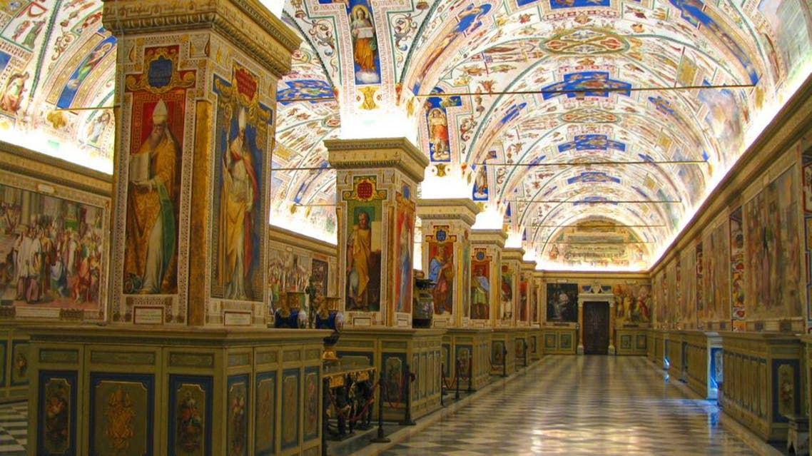 The Sistine Hall of the Vatican Library. the library of the Holy See, currently located in Vatican City, is one of the oldest libraries in the world. (Shutterstock)