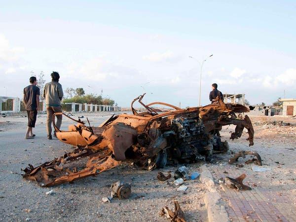 انفجار شاحنة ذخائر عند مدخل بنغازي الغربي