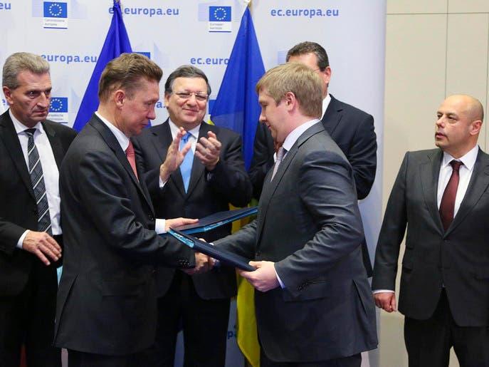 اتفاق روسي أوكراني أوروبي على مخرج مؤقت لأزمة الغاز
