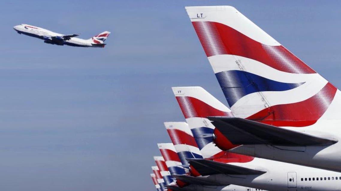 مطار في بريطانيا بريطاني طائرة تابعة للخطوط البريطانية