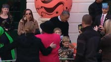 Obamas greet trick-or-treaters at the White House