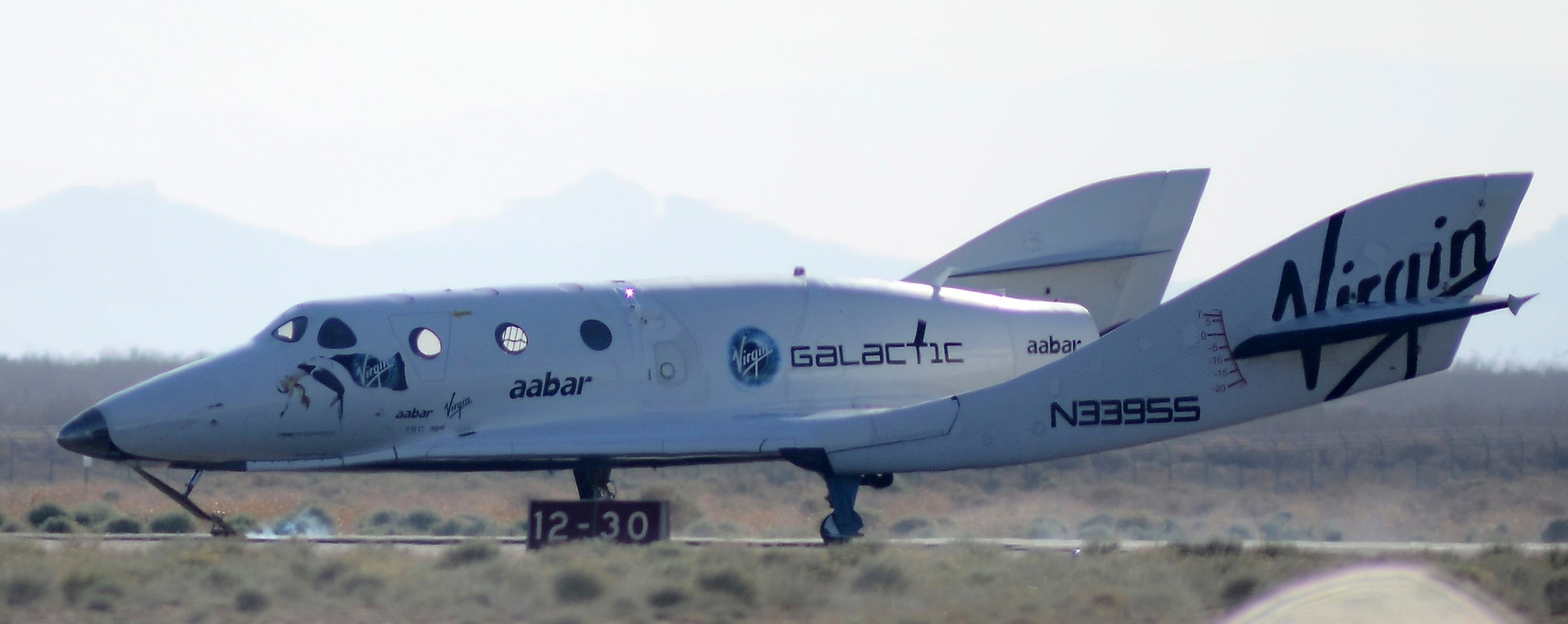Virgin Galactic's SpaceShip Two (SS2), the world's first commercial spaceship owned by Sir Richard Branson's Virgin Group. (Reuters)