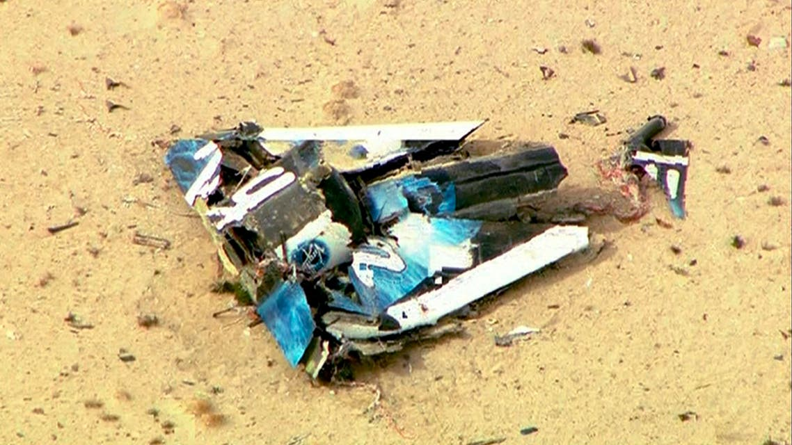 Wreckage from Virgin Galactic's SpaceShipTwo is shown in this still image captured from KNBC video footage from Mojave, California October 31, 2014. (Reuters)