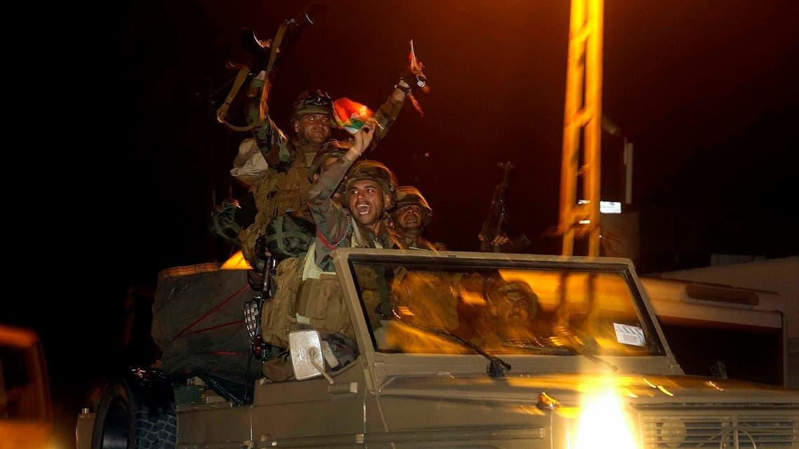Kurdish Peshmerga en route to Kobane
