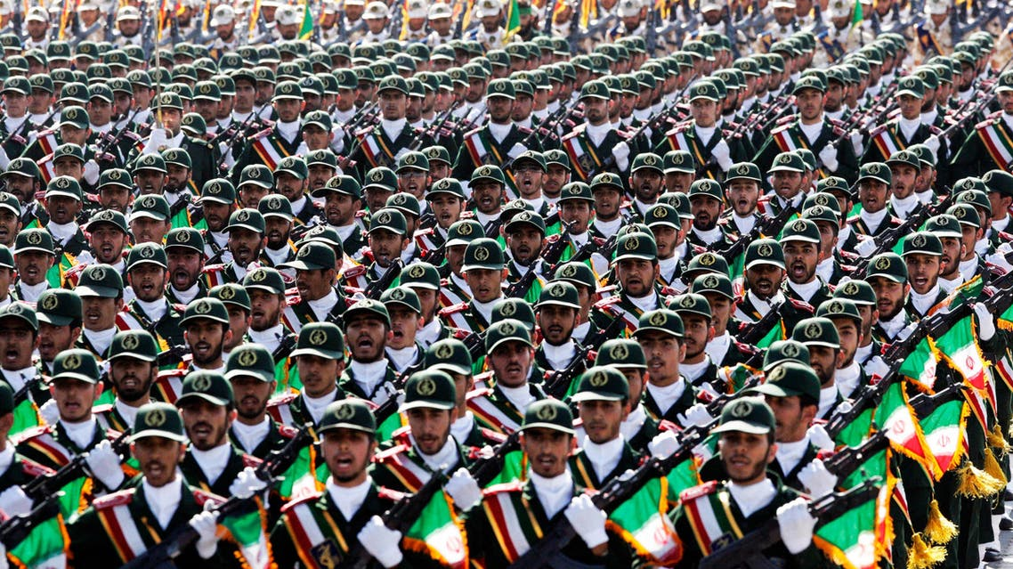 Iran's Revolutionary Guard troops march, during a military parade in 2012. (Photo courtesy: AP/Vahid Salemi)