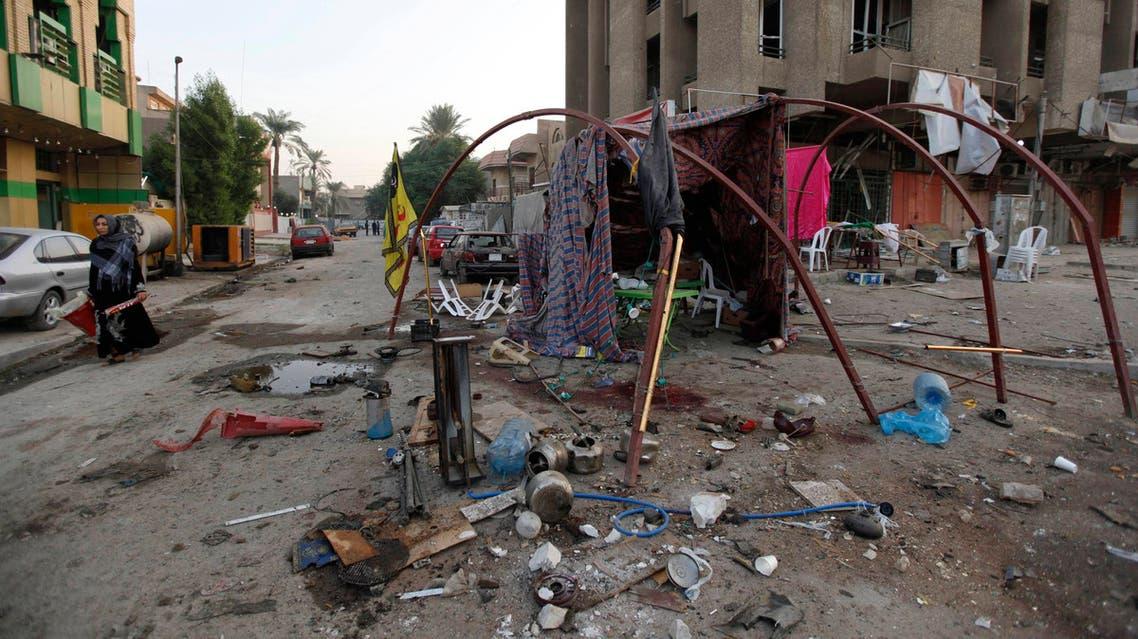 19 قتيلا في تفجير سيارتين استهدفتا خيمتي عزاء ببغداد