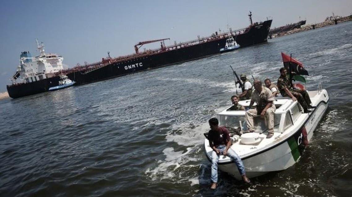 سفينة تابعة للبحرية الليبية
