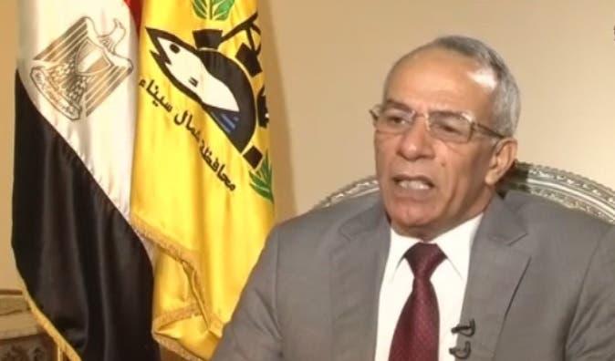 Northern Sinai Governor Abdel Fattah Harhoor speaking to Al Arabiya's Rana Abou al-Azm. (Al Arabiya News)