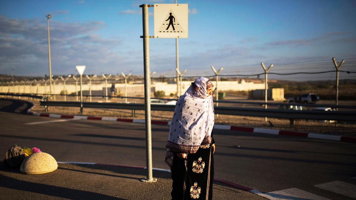 A Palestinian from Gaza waits after crossing into Israel through Erez Crossing. (File photo: Reuters)