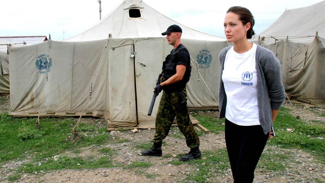 """Angelina Jolie, Guterres, and Tutu are leading the campaign calling for """"10 million signatures to change 10 million lives"""" on an open letter. (Photo courtesy: UNHCR)"""