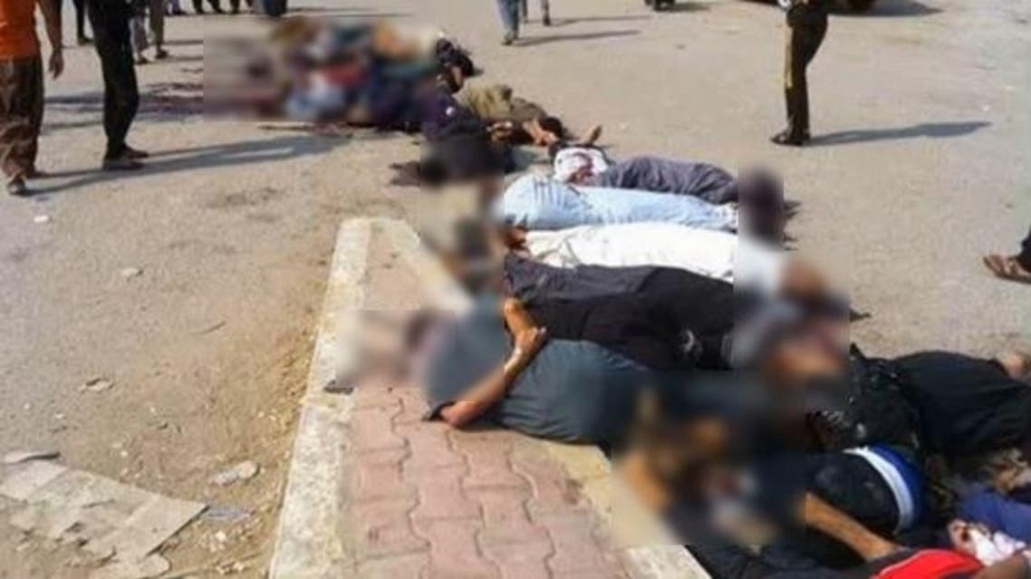 ISIS militants last week executed more than 200 members of the Abu Nimr tribe in Anbar Province. (Photo grab from YouTube video)