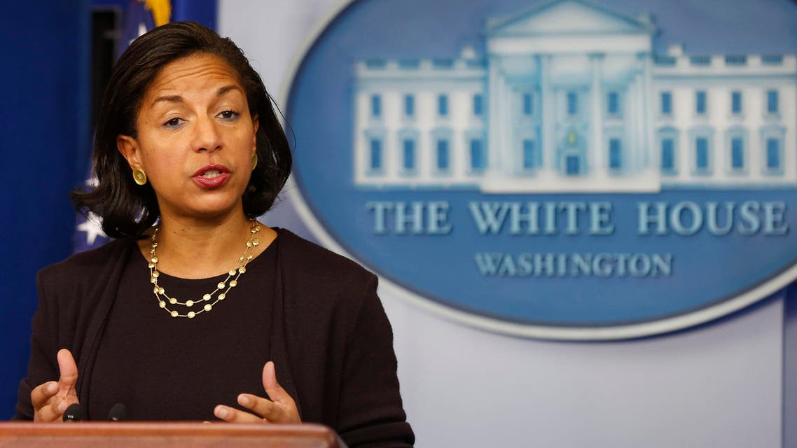 National Security Advisor Susan Rice speaks to the press about U.S. President Barack Obama's upcoming Asia trip while in the Brady Press Briefing Room at the White House in Washington, Nov. 7, 2014. (AFP)