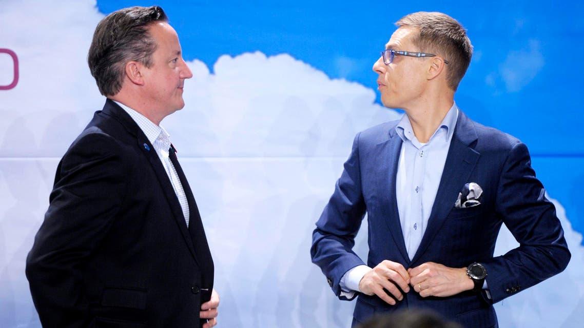 ديفيد كاميرون رئيس الوزراء البريطاني ورئيس الوزراء في فنلندا