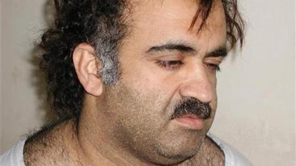 Khalid Sheikh Mohammed is shown in this photograph during his arrest on March 1, 2003. (File photo: Reuters)